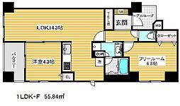兵庫県神戸市中央区中山手通5丁目の賃貸マンションの間取り