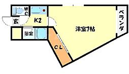 ハイツハラヤマ[1階]の間取り