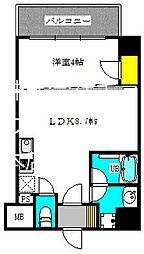 ブエナビスタ江坂広芝町 3階1LDKの間取り