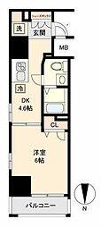 新交通ゆりかもめ 日の出駅 徒歩8分の賃貸マンション 5階1DKの間取り