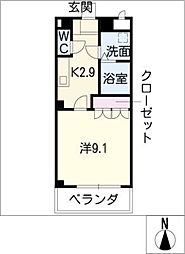 セレニティー[2階]の間取り