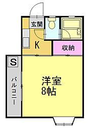 シャルムYAMA[107号室]の間取り