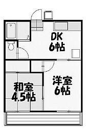 セジュール町田[2階]の間取り