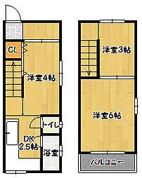 [一戸建] 兵庫県神戸市兵庫区荒田町3丁目 の賃貸【/】の間取り