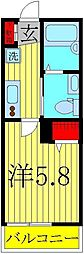 NK HOUSE[102号室]の間取り