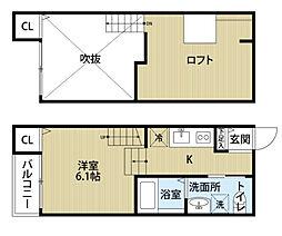 バウハウス[2階]の間取り