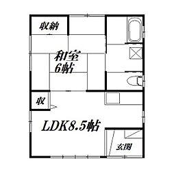 [一戸建] 静岡県浜松市中区中央2丁目 の賃貸【/】の間取り