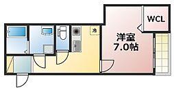 Osaka Metro中央線 緑橋駅 徒歩8分の賃貸マンション 9階1Kの間取り