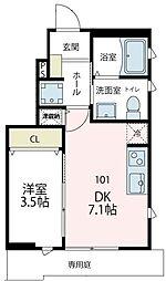 (仮称)フィカーサ六ッ川[101号室号室]の間取り