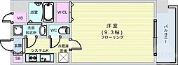 Osaka Metro四つ橋線 肥後橋駅 徒歩5分の賃貸マンション 13階1Kの間取り