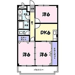 ディアコート横山[2階]の間取り
