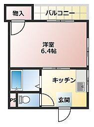 メゾン・ド・トウダ[4階]の間取り