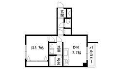 兵庫県西宮市松風町の賃貸マンションの間取り