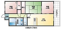アロッジオKTI[3階]の間取り