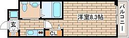 兵庫県神戸市中央区海岸通3丁目の賃貸マンションの間取り