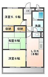 愛知県日進市梅森台4の賃貸アパートの間取り