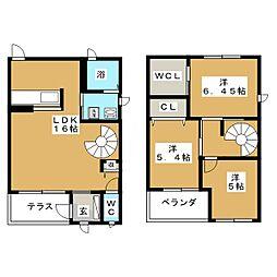 [テラスハウス] 三重県桑名市陽だまりの丘7丁目 の賃貸【/】の間取り