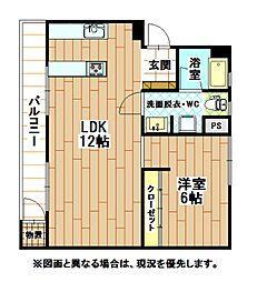 福岡県北九州市小倉北区南丘2丁目の賃貸マンションの間取り