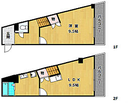 モンシャトー百済坂[4階]の間取り
