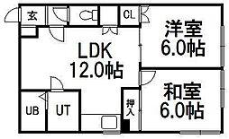 メゾンド・ノームA[2階]の間取り