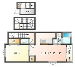 Villa BRISE[3階]の間取り