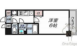 プレサンス大阪福島レシェンテ[4階]の間取り