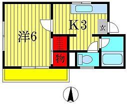 メゾンサカイA[2階]の間取り