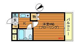 東京都武蔵野市吉祥寺東町3丁目の賃貸マンションの間取り