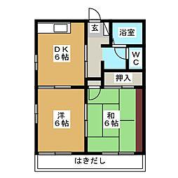 フローラルアベニューA・B[1階]の間取り
