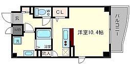 プランドール江戸堀[7階]の間取り