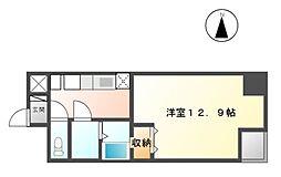 栃木県宇都宮市東宿郷1丁目の賃貸マンションの間取り