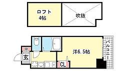 エステムコート神戸県庁前Ⅲフィエルテ[5階]の間取り