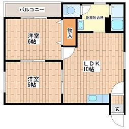 マイプラザ田島[102号室]の間取り