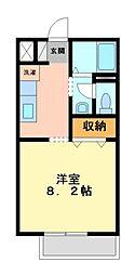 神奈川県川崎市高津区坂戸2丁目の賃貸アパートの間取り