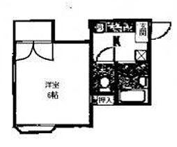 ペントハイム[2階]の間取り