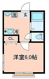 千葉県市川市本行徳の賃貸アパートの間取り