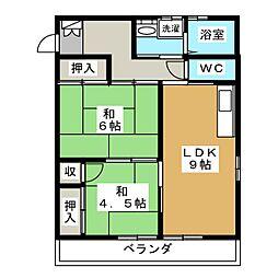 友孝マンション[2階]の間取り