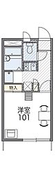 近鉄南大阪線 恵我ノ荘駅 徒歩26分の賃貸アパート 1階1Kの間取り