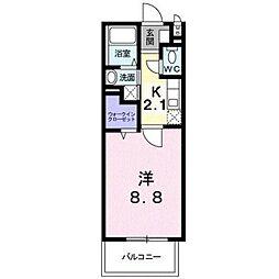 JR鹿児島本線 折尾駅 徒歩3分の賃貸マンション 6階1Kの間取り