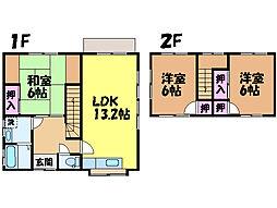 [一戸建] 愛媛県松山市居相4丁目 の賃貸【愛媛県 / 松山市】の間取り