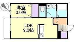 フラッツァ水江A棟[102号室]の間取り