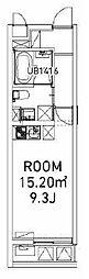 東京メトロ南北線 東大前駅 徒歩6分の賃貸マンション 3階ワンルームの間取り