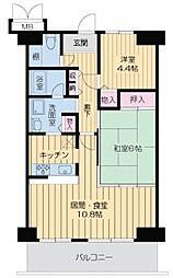 アートメゾン播磨[6階]の間取り