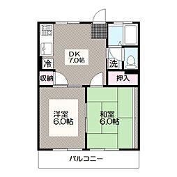 東京都江戸川区西葛西8丁目の賃貸マンションの間取り