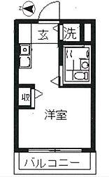 東京都葛飾区新宿5丁目の賃貸マンションの間取り