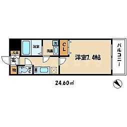 サムティ北梅田VESSEL[6階]の間取り