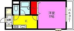 ラフィネシャンブル[2階]の間取り