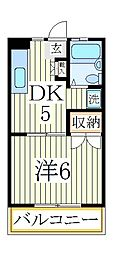 ビーブタウン高田[2階]の間取り