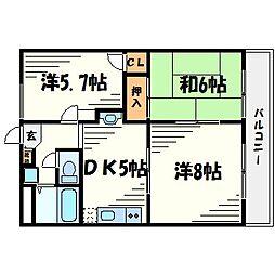 ルシェール樋ノ口[1階]の間取り