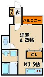 エターナルシー藤江III[1階]の間取り